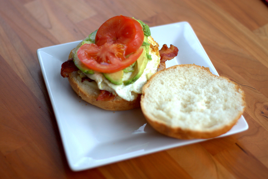 Egg Sandwich with Bacon, Avocado and Tomato -Full Thyme Foodie