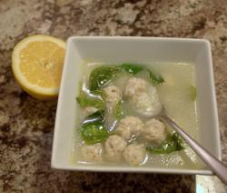Greek meatball and rice soup (with lemon)