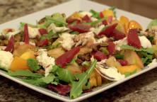 Mixed green beet salad.